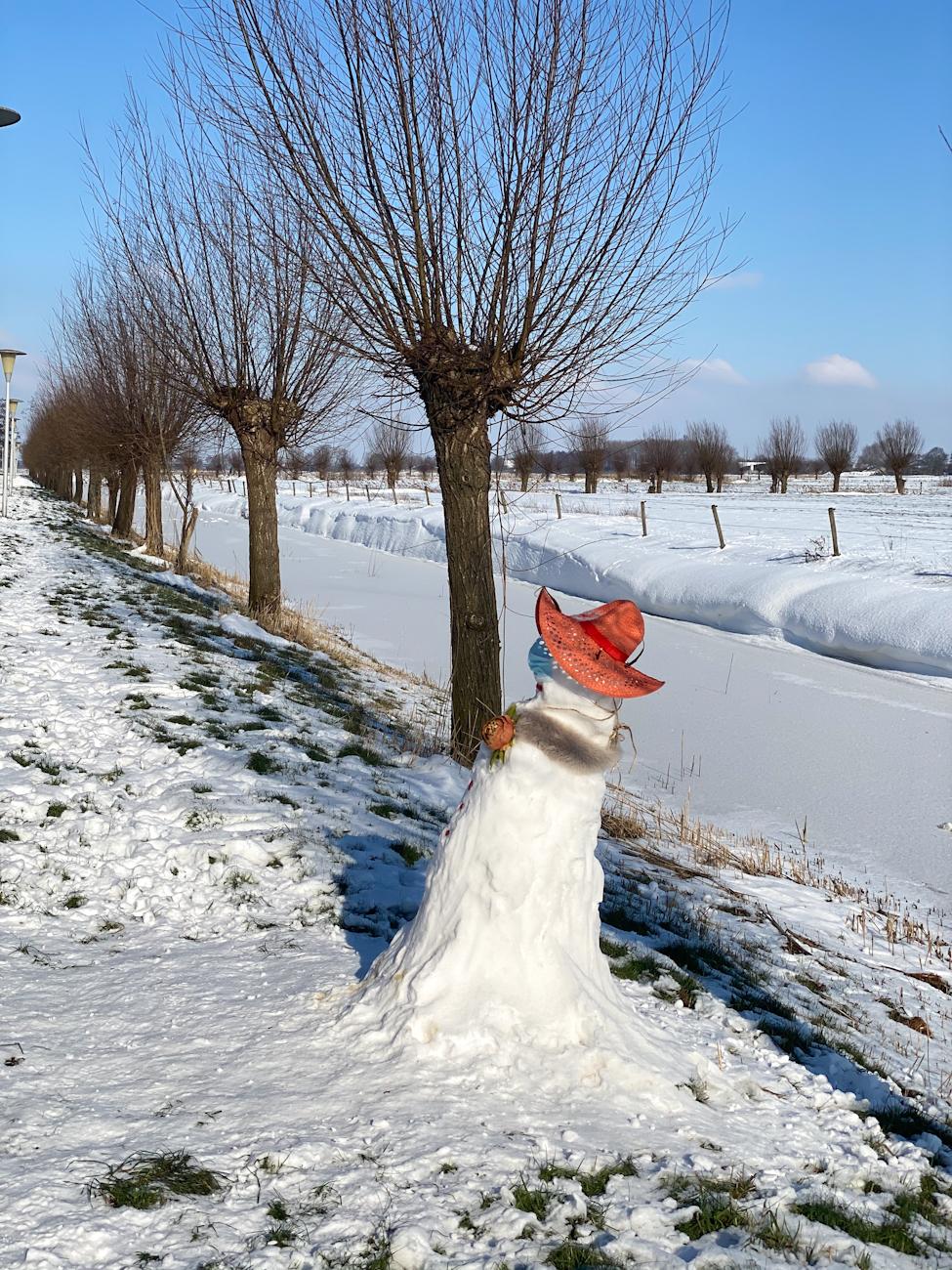 Corona sneeuwpop